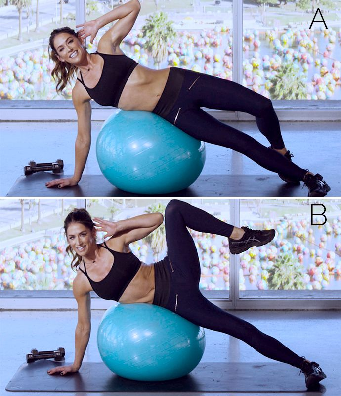BEST total body workouts using an exercise ball!!! Short, but effective for our busy brides!