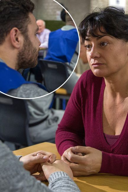 Emmerdale spoilers: Moira Barton visits Adam Barton in prison after Emma Barton murder confession in first look pictures