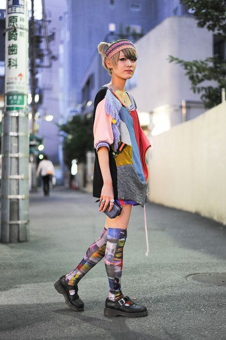 カラフルでキレイ: Harajuku Styl Street, Hair Colors, Harajuku Lovers, Dr. Martens, Jane Shoes, Black Dr., Martens Mary, Fashion Styl, Colors Hair