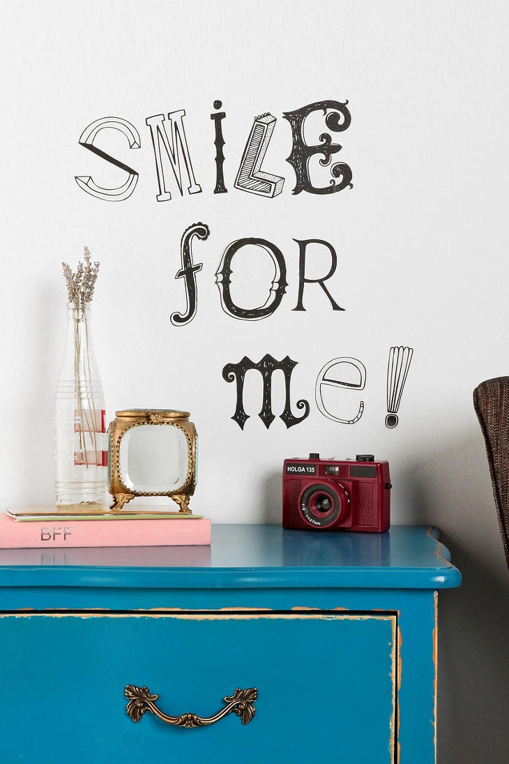 Get creative. #urbanoutfitters #walldecal: Wall Art, Hands Drawn Letters, Decor Ideas, Urban Outfitters, Wall Decals, Handdrawn Letters, Urbanoutfitt Walldec, Letter Wall, Letters Wall