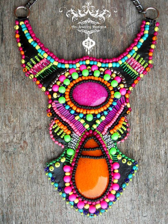 Tribal Psy Neon Boho African Tuareg inspired by AniDandelion