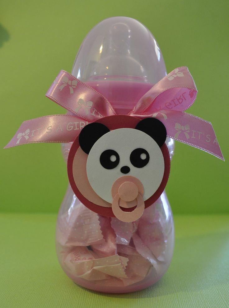 Panda mint filled baby bottle