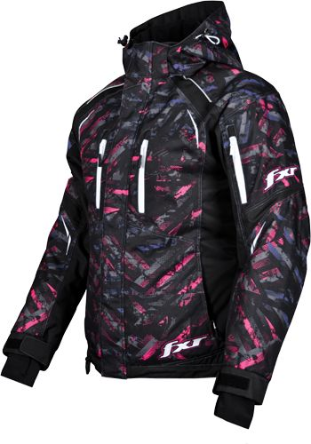 FXR Women's FRESH Jacket - Purple-Fuchsia Circuit  Snowmobile Jacket