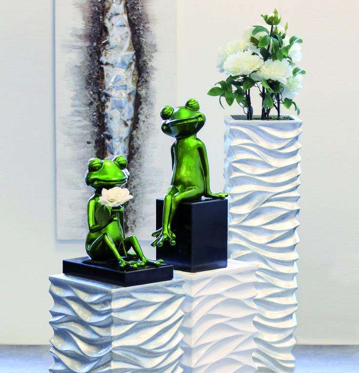 Design Skulptur Frosch