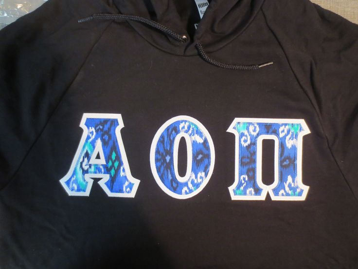25 best images about greek fabric favorites on pinterest With aoii stitched letters