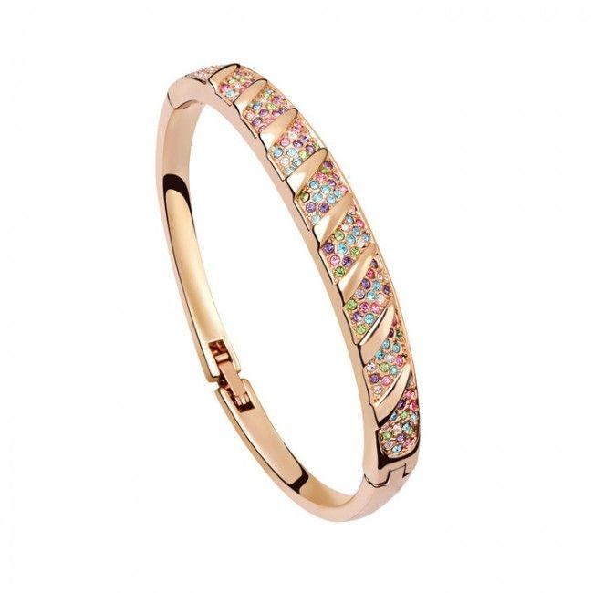 Women's Bangles Genuine Austrian Crystal Bracelets A Lifetime Together TCDBL0088 #Jewelry #WomensJewelry