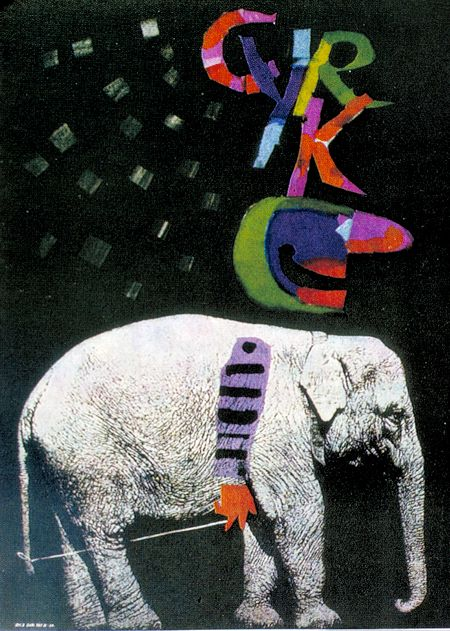 Roman Ciezlewicz, 1963. Polish Circus Poster. Inspiration for blue meanies?