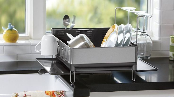 I didn't give much thought to my dish rack until I went to my mom's house and she had this simplehuman beauty. It's a small thing, but it looks so much nicer than the flimsy $15 ones you can buy at the grocery store and it is incredibly functional.