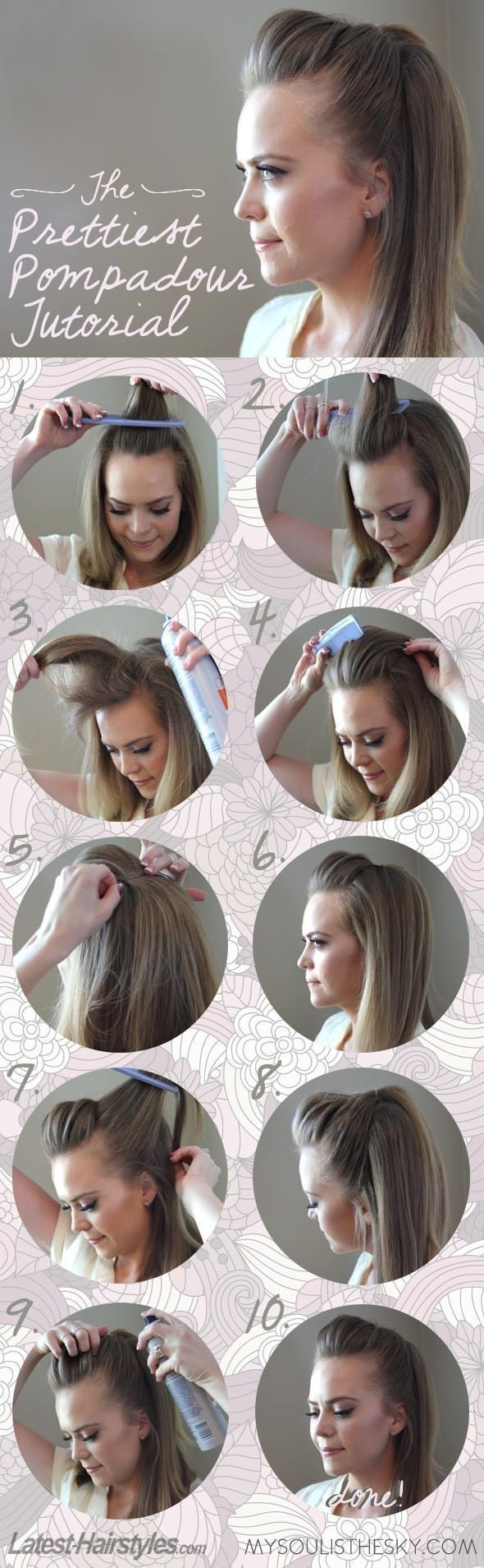 Süße Frisur, um lästige Haare loszuwerden.