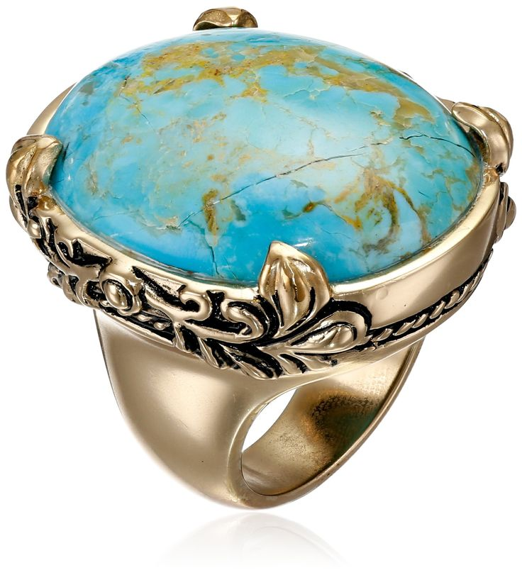 Barse Jubilee Turquoise Oval Ring: Jewelry: