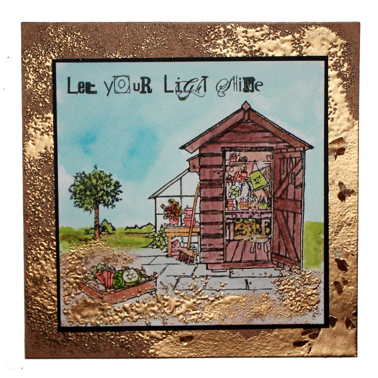 This is the Gorgeous new The Allotment designed by Sharon Bennett for Hobby Art. Clear set contains 17 clear stamps as seen on Create & Craft. This Gorgeous Card was made by Jenny Mayes