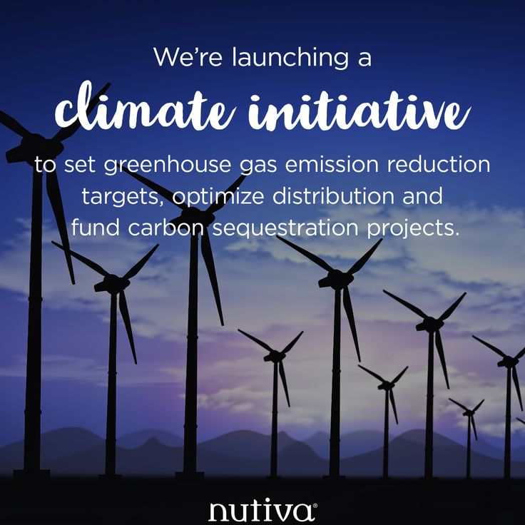 We're launching a Climate Initiative to set greenhouse gas emission reduction targets, optimize distribution and fund carbon sequestration projects.