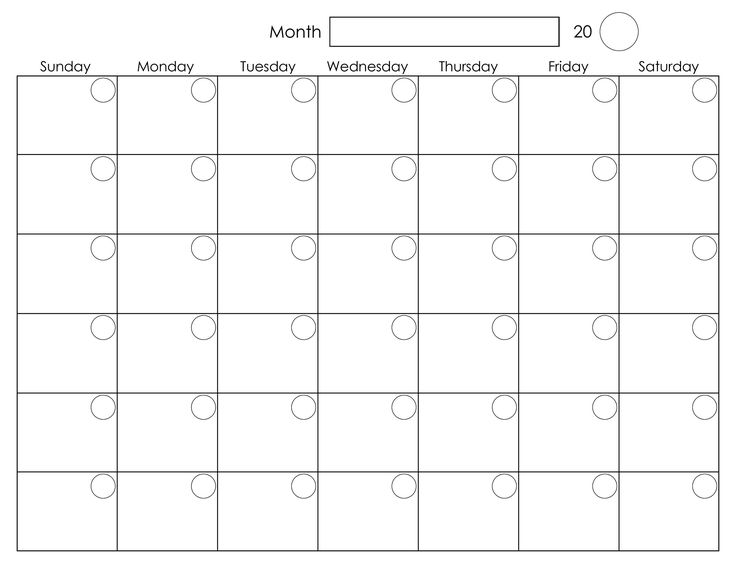 Free Printable Blank Calendar Free Printable Monday Through Friday