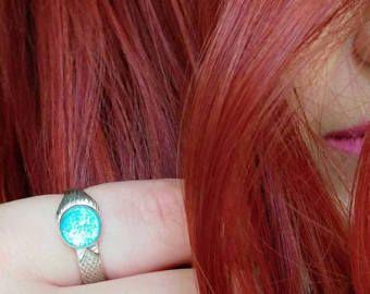 The Real Mako Mermaid Ring Sterling Silver 925 + FREE Shell Box! size 4 to 11 Mako Island of Secrets MoonPool Moon Pool Sirena Lyla Nixie