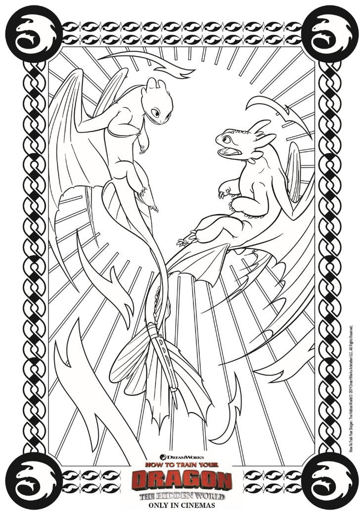 Free Printable Dragon Coloring Page From How To Train Your Dragon 3 The Hidden World Htt Dragon Coloring Page How Train Your Dragon How To Train Your Dragon