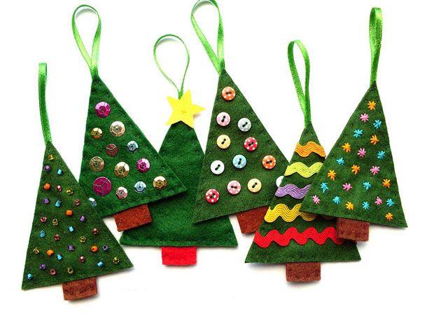 Новогодние игрушки своими руками из фетра