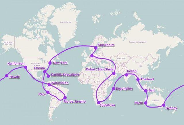 Eine Weltreise rund um den Globus. Die Ferienpiraten zeigen euch, wie man günstige Flüge findet, preiswerte Hotels bucht und Geld sparen kann. Viel Spaß!