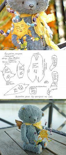 """Выкройка мишки тедди """"Солнышко"""" - Ярмарка Мастеров - ручная работа, handmade #teddy #sun #pattern #toy #sewing"""