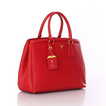 PRADA GALLERIA BAG IN SAFFIANO CALF LEATHER RED BN2402 - Prada Saffiano  Leather - Prada Bags