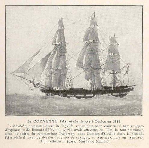 La Boussole y L'Astrolabe eran dos mercantes reconvertidos en fragatas