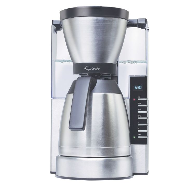 Capresso MT900 10-Cup Rapid Brew Coffee Maker with Stainless Steel Thermal Carafe - 498.05, Silver