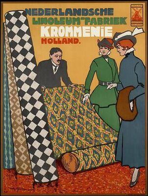 Nederlandsche Linoleum Fabriek Krommenie Holland.