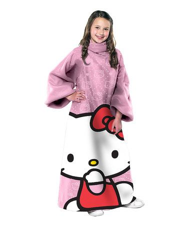 Take a look at this Pink Hello Kitty Comfy Throw - Kids by Hello Kitty on #zulily today!