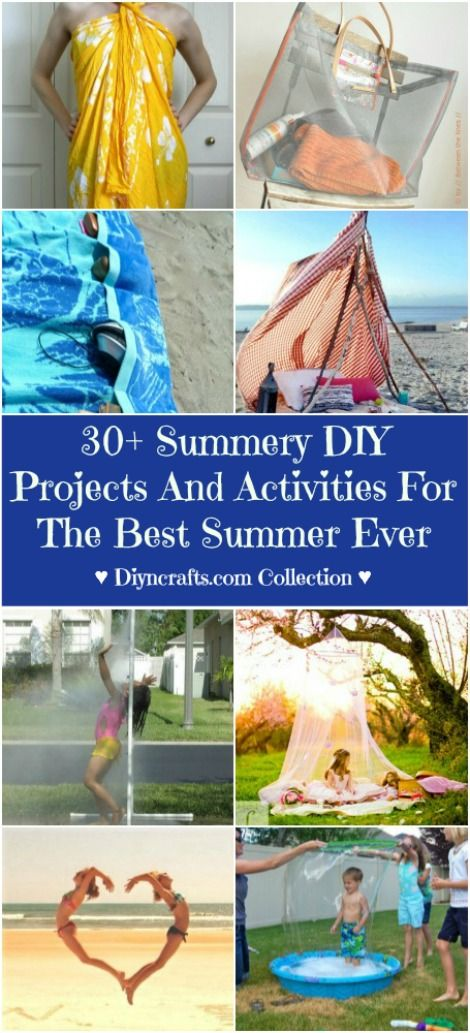 35 Summery DIY Projects And Activities For The Best Summer Ever - Summer is filled with activity and whether you like to be out and about enjoying the sun or staying home and getting things done around the house, there are many different DIY projects that you can do to make your summer the best ever.