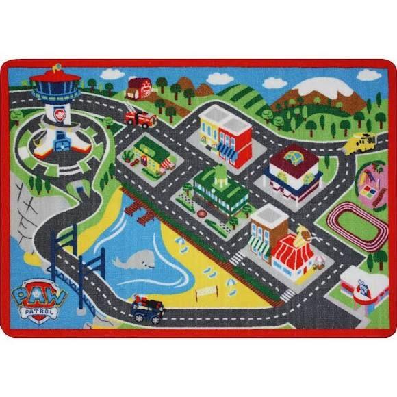 Nickelodeon Paw Patrol Adventure Bay Game Rug