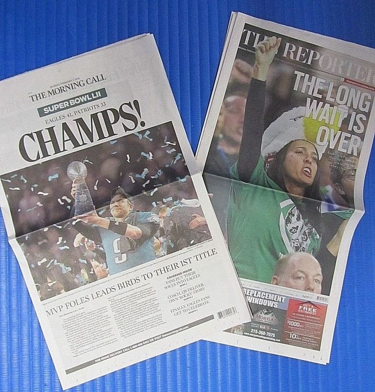 Eagles Super Bowl 52 Win The Reporter/The Morning Call Newspapers 2/5/18