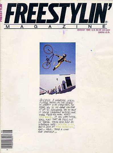 Freestylin' Magazine is a major influence in all walks of my life.