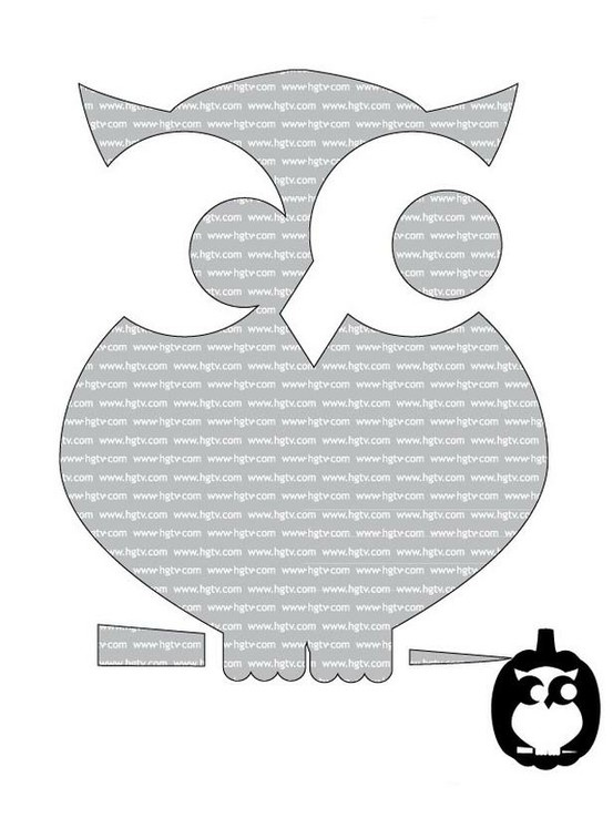 Owl pumpkin pattern