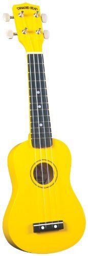 Diamond Head DU-104 Ukulele, Yellow by Diamond Head. $31.37. DU-104 Yellow Ukulele Join the latest craze and get your very own Diamond Head DU-100 series ukulele! They are available in eleven beautiful colors with careful workmanship and fantastic tone, well beyond that of other entry level instruments on the market today. As a result, they tune up perfectly and play so easy that kids will love 'em and grown-ups too! Each instrument comes with its very own color match...
