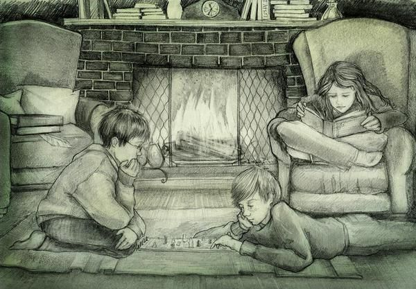 Typical Harry, Ron, & Hermione :) whoever drew this is a great artist