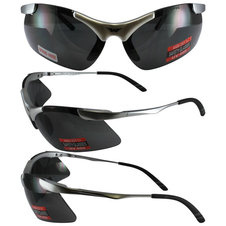Lightning Safety Glasses Firm Metal Frame with Smoke Lenses Meet ANSI Z87.1 Specifications