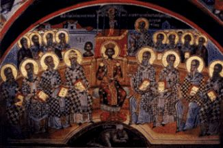 Black Rome- Emperor Constantine with his bishops at the Nicean Council...When spirituality became religion--mind control purposes.....