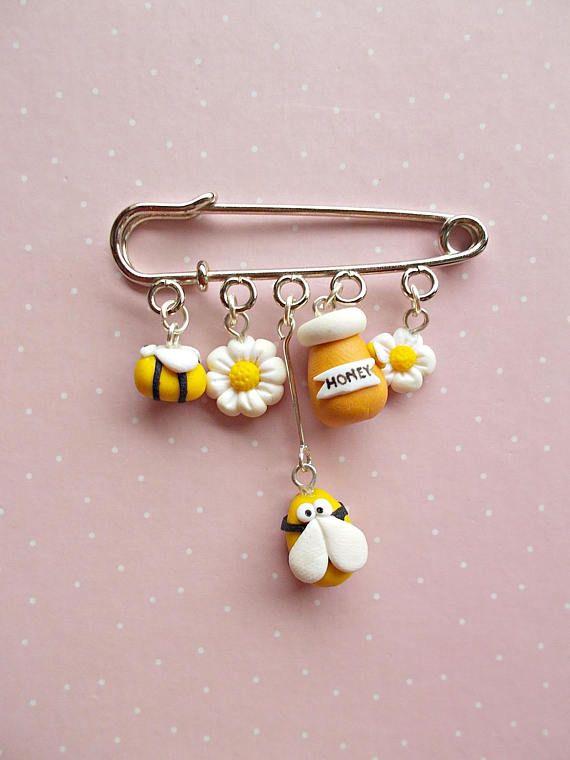 Bee Pin – Bee Jewelry – Honey Pin – Bee Brooch – Bee Pin – Queen Bee Jewellery – Bee Lover Gift
