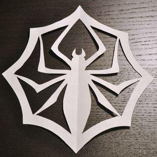 Nightmare Before Christmas Jack Skellington's Spider Snowflake paper printable