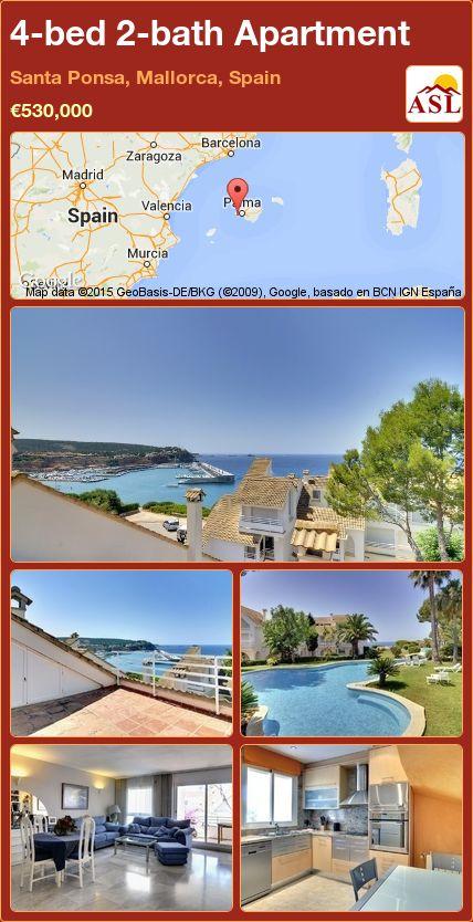 4-bed 2-bath Apartment in Santa Ponsa, Mallorca, Spain ►€530,000 #PropertyForSaleInSpain