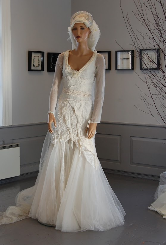 Wedding dress by Judith Bech