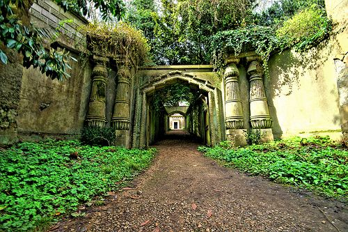 I want to go to Highgate Cemetery.  It looks beautiful and Marx, Dickens' Parents, Wife and daughter are buried here along with Douglas Adams (Hitchhiker's Guide to the Galaxy) and Jeremy Beadle hmmm :) x
