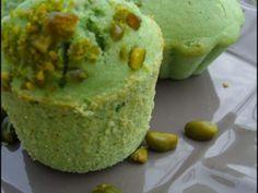 Recette autre : Muffins pistache coeur fondant chocolat par Aux becs sucrés salés
