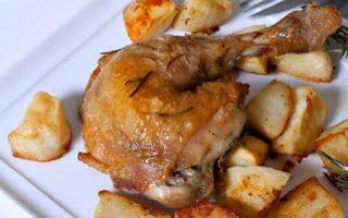 Συνταγές - Κοτόπουλο στο φούρνο με μέλι και δεντρολίβανο