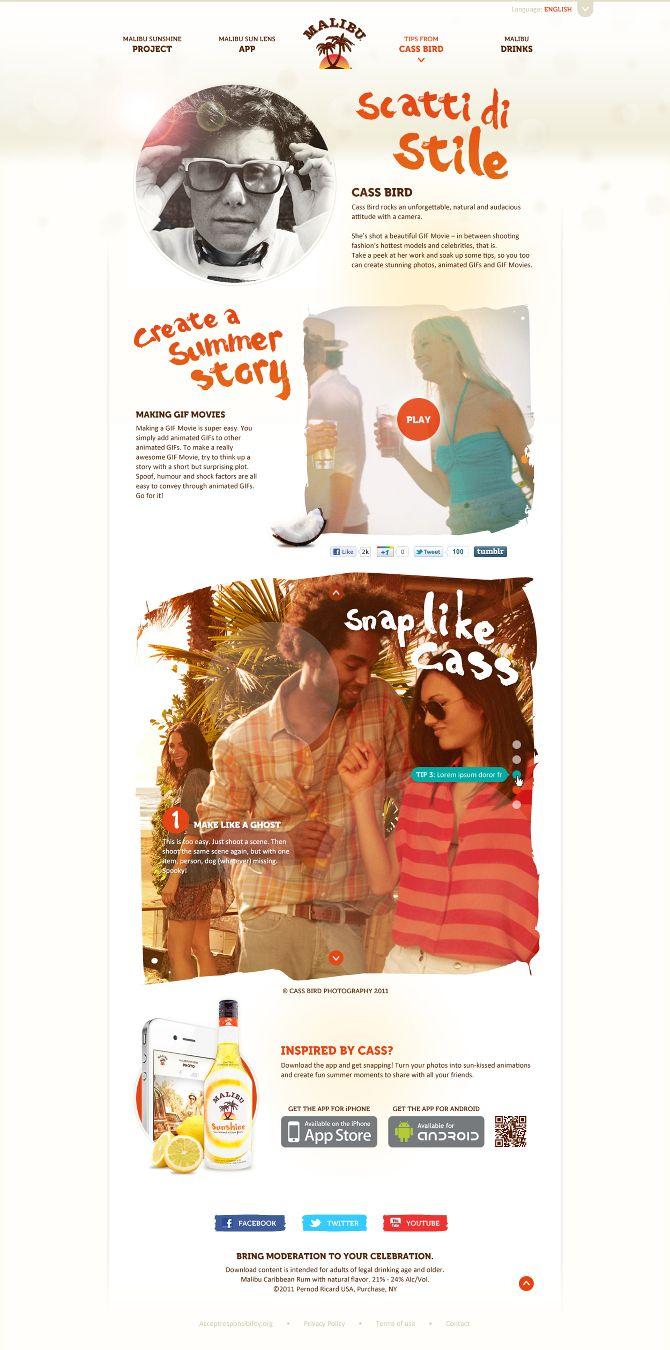 Malibu Sunshine - Victor Sahate | #landingpage #webdesign