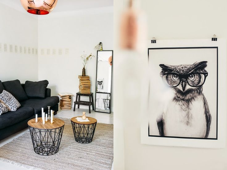 my scandinavian home: Black, white and copper in a Stockholm space