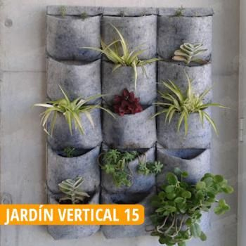 Jardin Vertical de 15 Macetas en COCOPOT huerto urbano