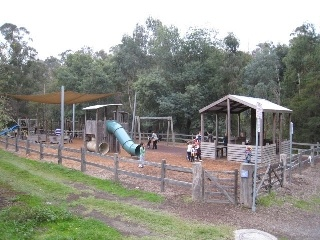 Warrandyte Federation Playspace  227 Yarra Street,  Warrandyte    Awesome playspace for the kids with a bakery / cafe VERY close so you can watch the kids and divulge at the same time!