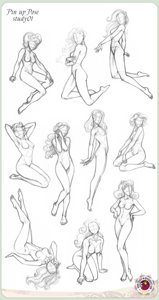 422 Pin up ten Pose study01 by GALEKA-EKAGO on deviantART