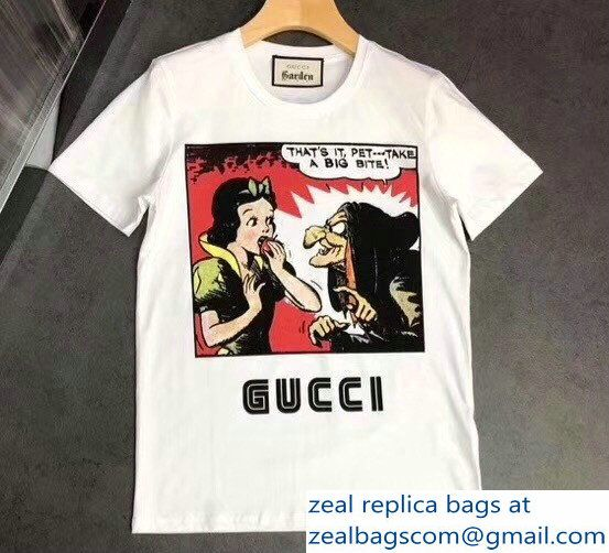 f8ce5804b Gucci Disney Snow White And Witch Print T-Shirt 2018 | Luxury ...