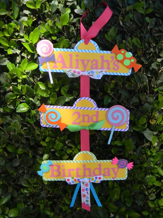 Sweet Shoppe or Candyland Party Sign